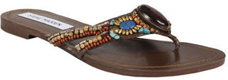 Sainnt Brown Multi - Ethnic Beaded Sandals