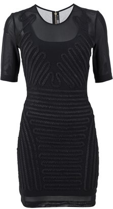 MARKUS LUPFER - Tulle mini dress with zig-zag tape applique - Markus Lupfer