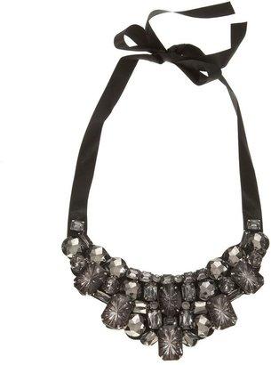 Natasha accessories faceted-stone collar necklace - Beautiful Bib Necklaces