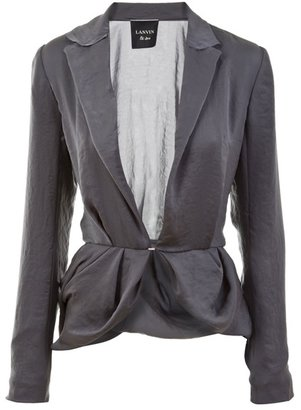 LANVIN - Draped single-breasted jacket - Ooh-la-Lanvin