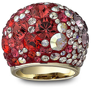 Chic Multi Red Ring - Statement Cocktail Rings