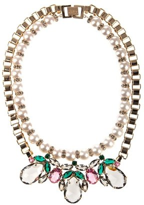 MAWI - Floral crystal jewel necklace - Make a Statement