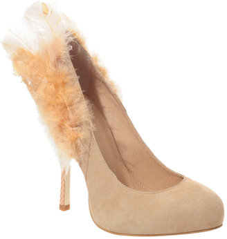 ASOS BLACK BOA Feather Suede Court Shoes -  Fabulous Feathered Heels