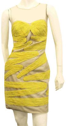 Yigal Azrouël Plissea Dress In Pistachio &  Stone - Dress Like Whitney Port