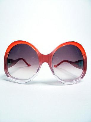 Balenciaga Retro Sunglasses - Red - Retro Round Sunglasses